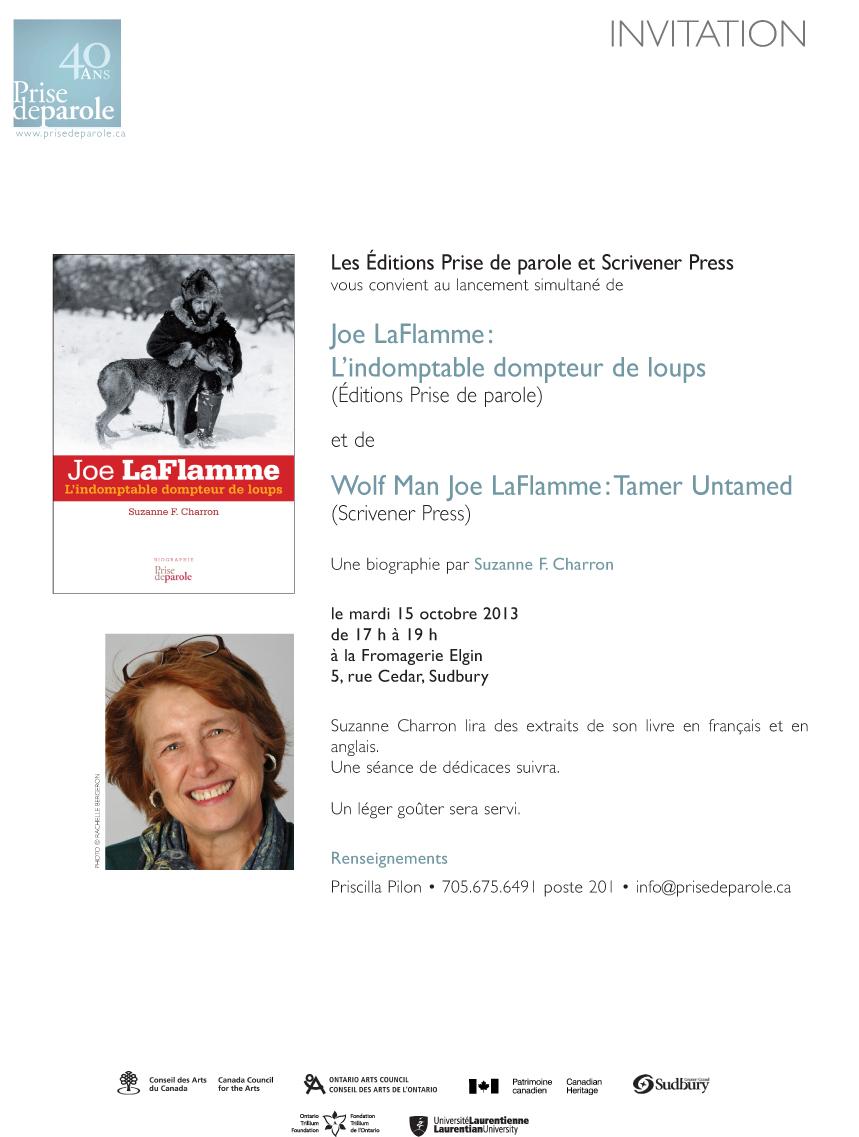 Invitation Lancement Joe LafLammeSudbury