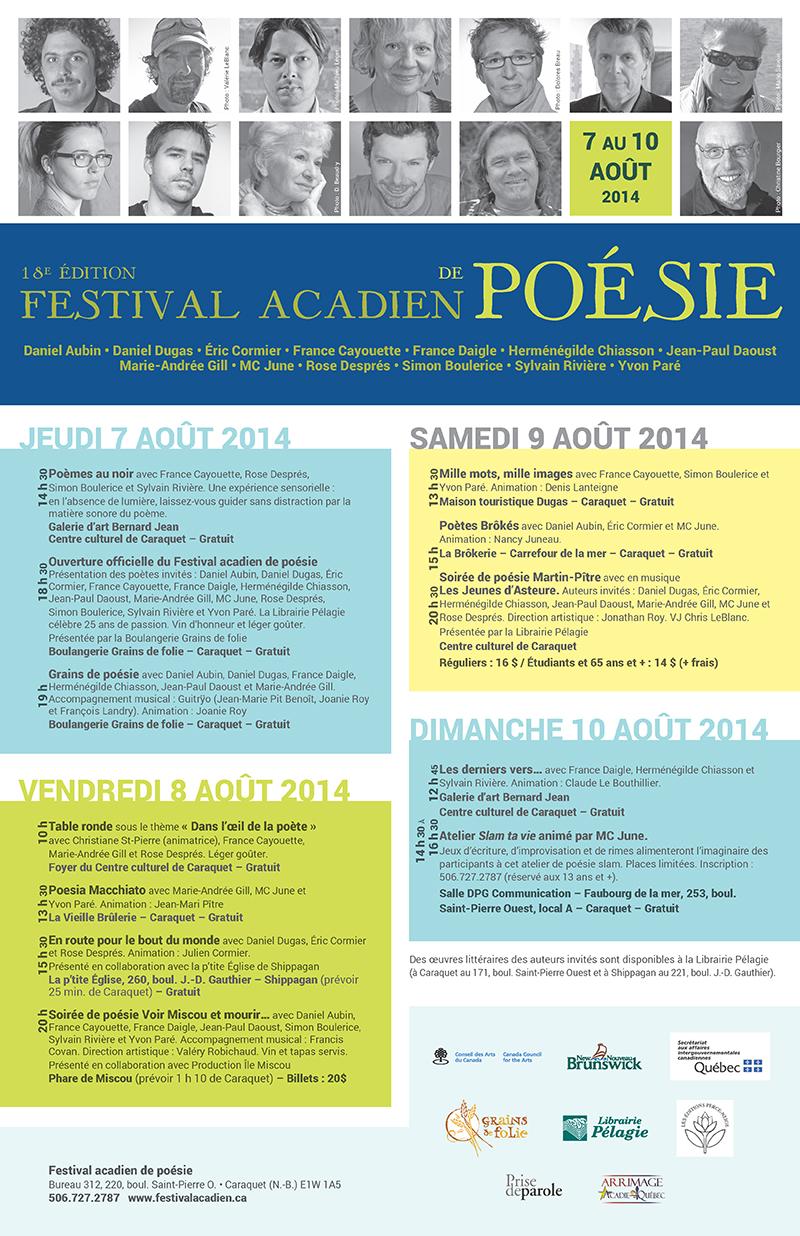Pages from Festival acadien de poésie br